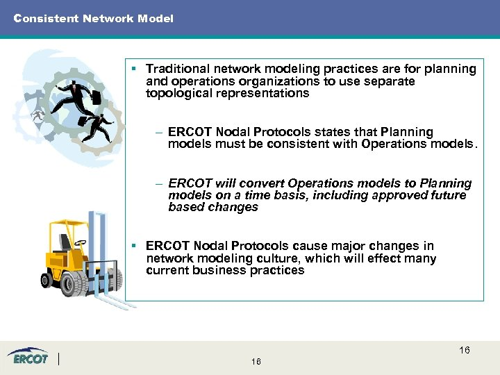 Consistent Network Model § Traditional network modeling practices are for planning and operations organizations