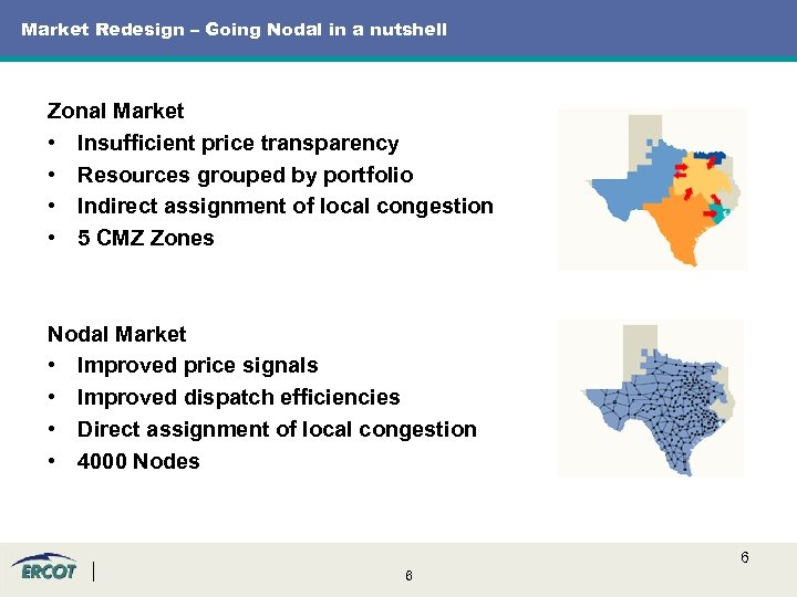 Market Redesign – Going Nodal in a nutshell Zonal Market • Insufficient price transparency