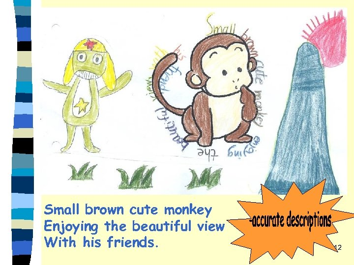 Small brown cute monkey Enjoying the beautiful view With his friends. 12