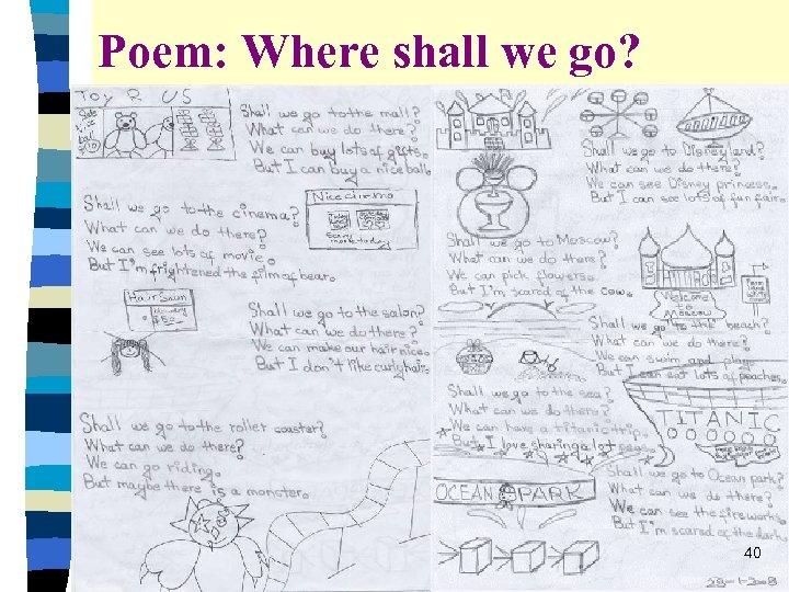 Poem: Where shall we go? 40