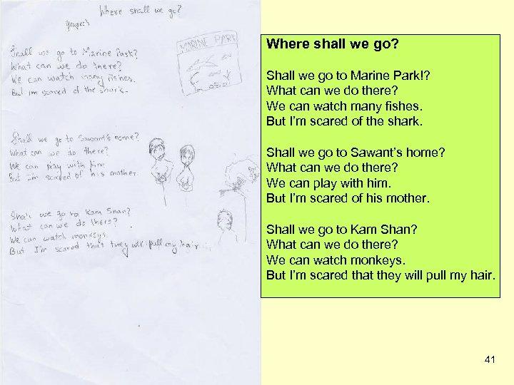 Where shall we go? Shall we go to Marine Park!? What can we do