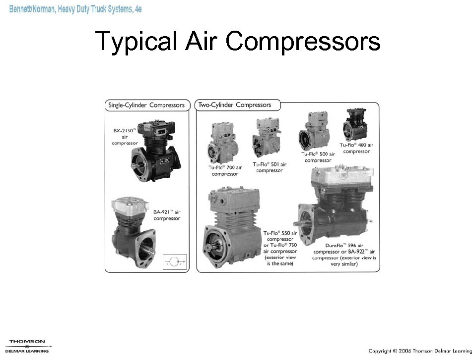 Typical Air Compressors