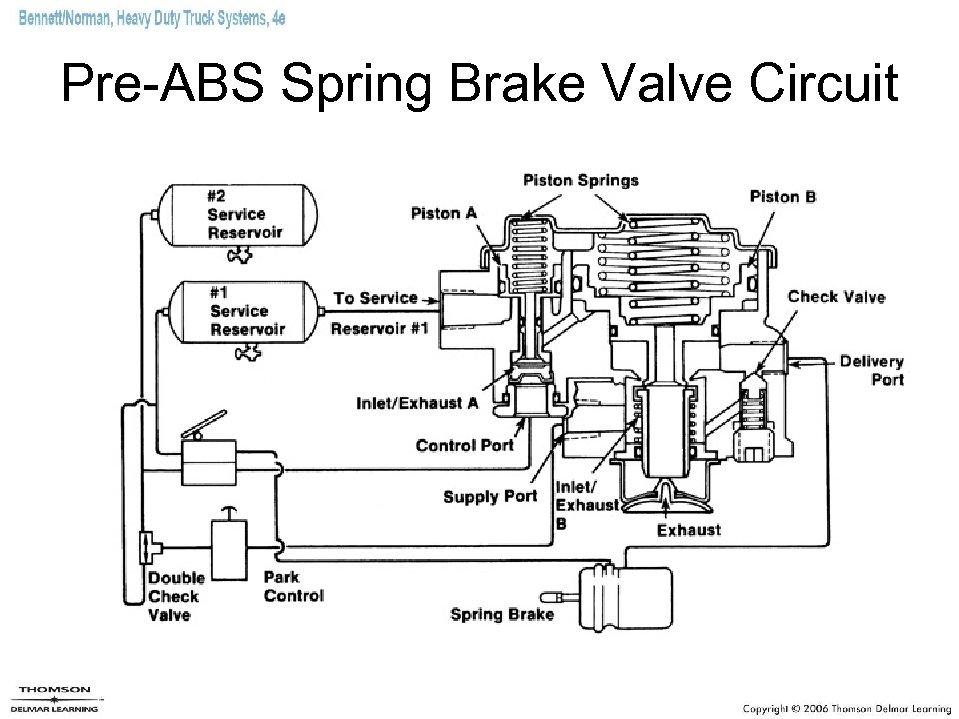 Pre-ABS Spring Brake Valve Circuit