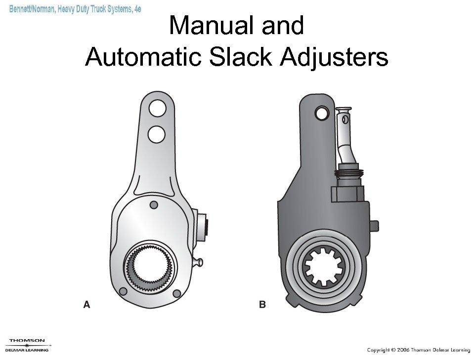 Manual and Automatic Slack Adjusters