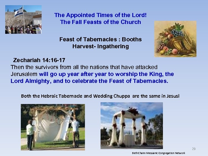 The Appointed Times of the Lord! The Fall Feasts of the Church Feast of