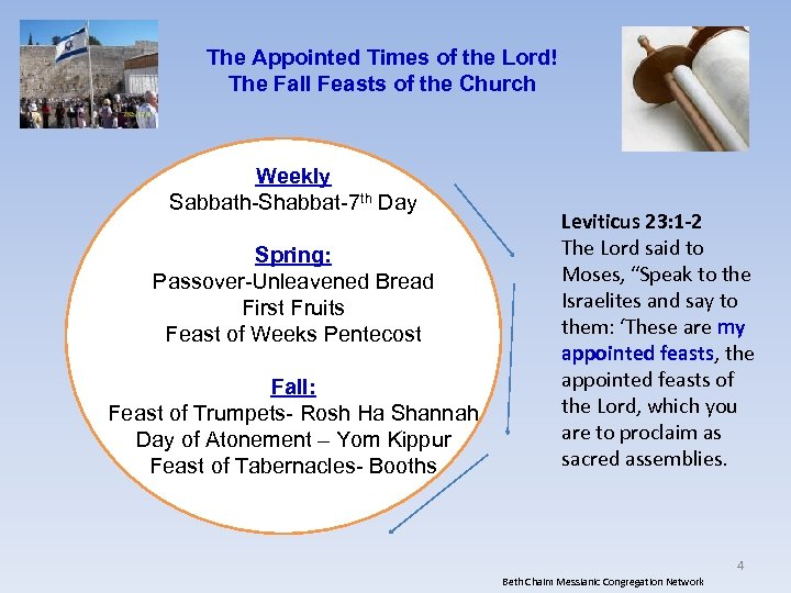 The Appointed Times of the Lord! The Fall Feasts of the Church Weekly Sabbath-Shabbat-7