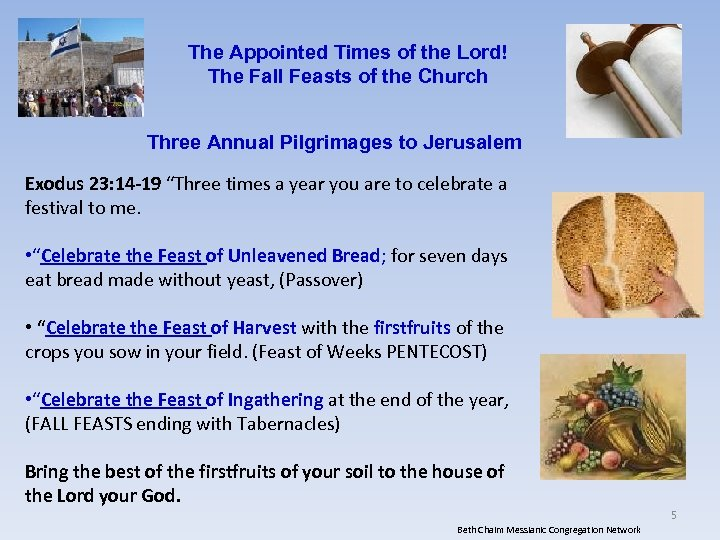 The Appointed Times of the Lord! The Fall Feasts of the Church Three Annual