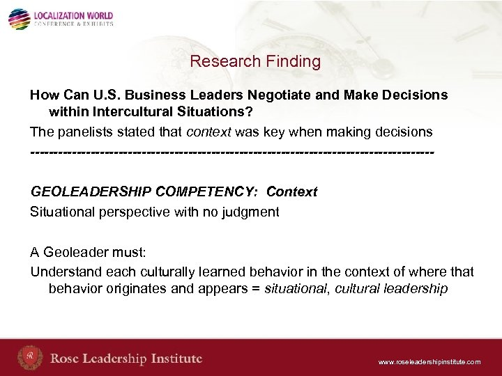 Research Finding How Can U. S. Business Leaders Negotiate and Make Decisions within Intercultural