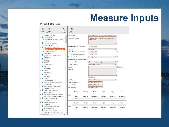 Measure Inputs