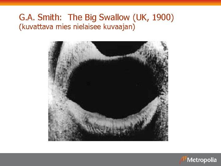 G. A. Smith: The Big Swallow (UK, 1900) (kuvattava mies nielaisee kuvaajan)