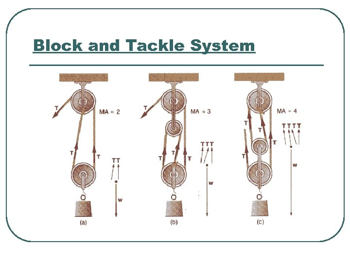 Block and Tackle System