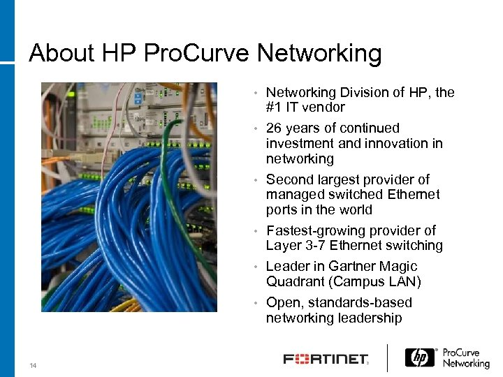 About HP Pro. Curve Networking Division of HP, the #1 IT vendor • 26