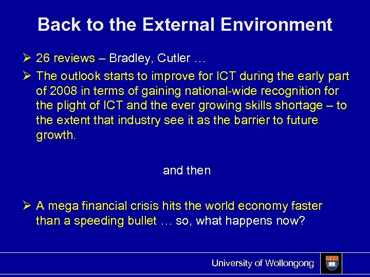 Back to the External Environment Ø 26 reviews – Bradley, Cutler … Ø The