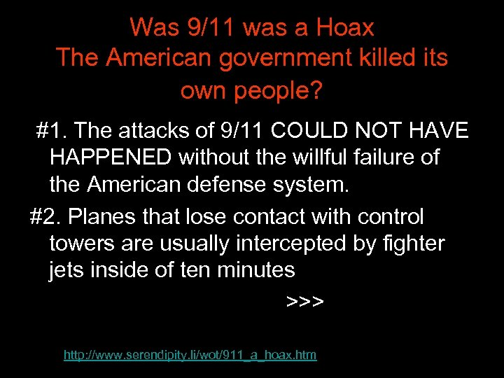 Was 9/11 was a Hoax The American government killed its own people? #1. The