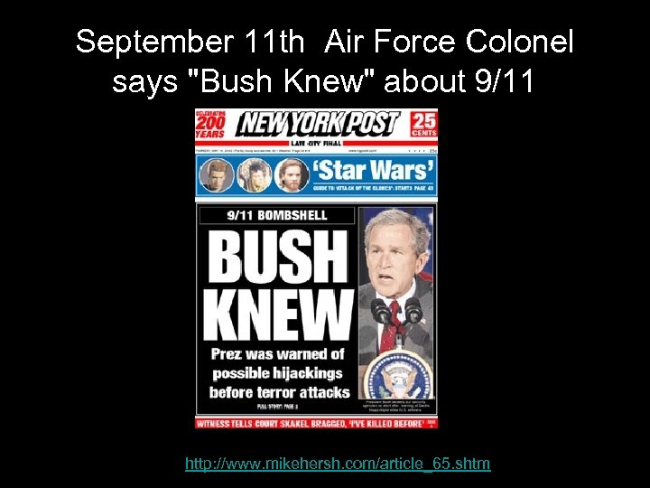 September 11 th Air Force Colonel says