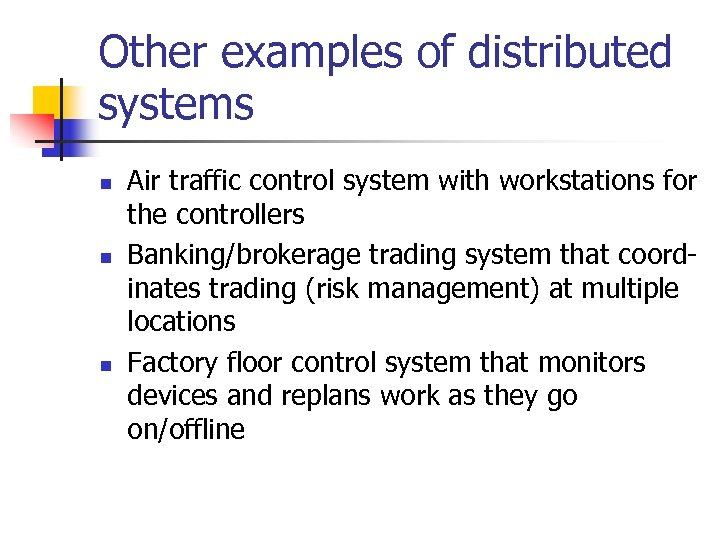 Reliable Distributed Systems Fundamentals Overview of Lecture