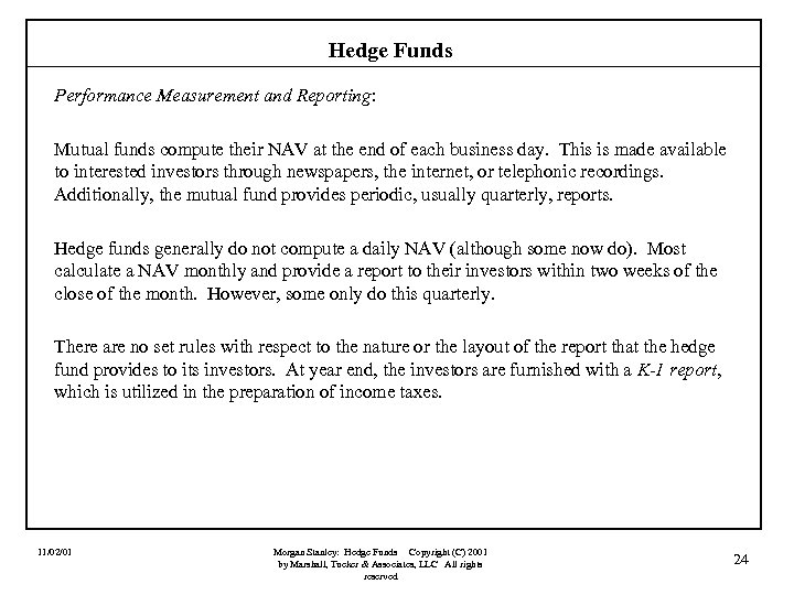 Morgan Stanley Hedge Funds An Introduction John F