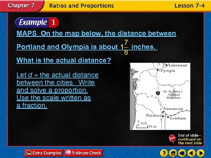 MAPS On the map below, the distance between Portland Olympia is about What is