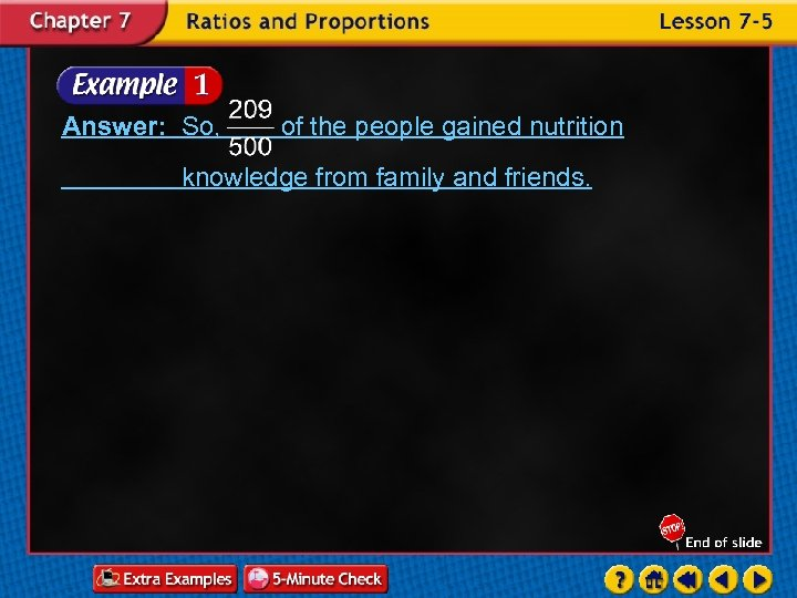 Answer: So, of the people gained nutrition knowledge from family and friends.