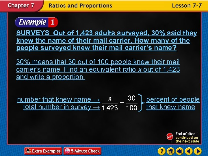 SURVEYS Out of 1, 423 adults surveyed, 30% said they knew the name of