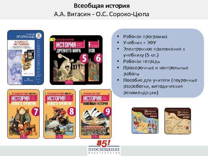 Всеобщая история А. А. Вигасин - О. С. Сороко-Цюпа • Рабочая программа • Учебник
