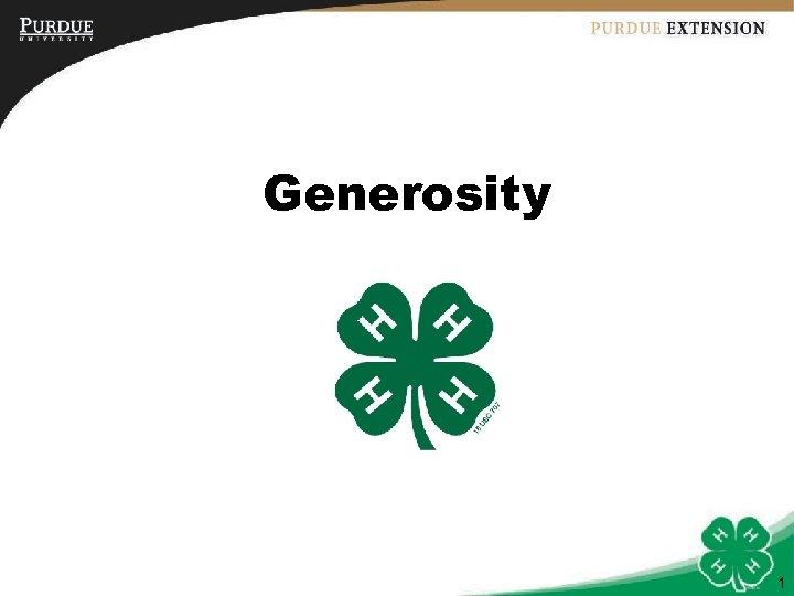 Generosity 1