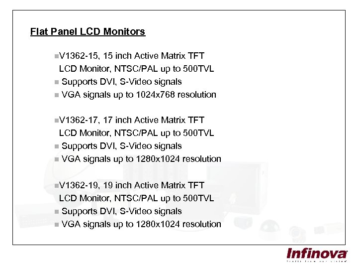 Flat Panel LCD Monitors n. V 1362 -15, 15 inch Active Matrix TFT LCD