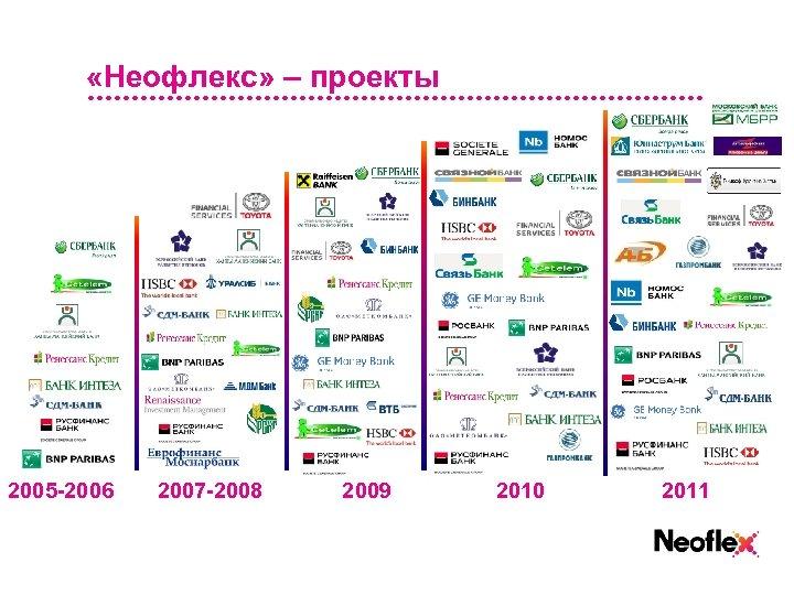 «Неофлекс» – проекты 2005 -2006 2007 -2008 2009 2010 2011