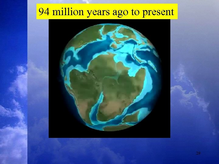 94 million years ago to present 29