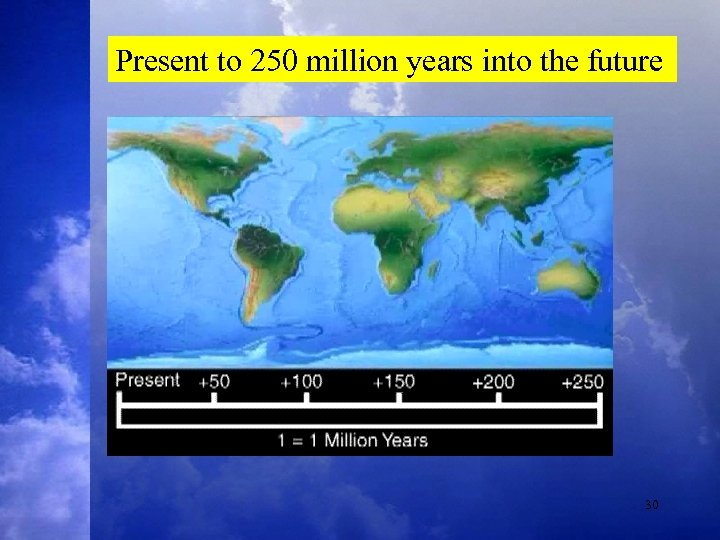 Present to 250 million years into the future 30
