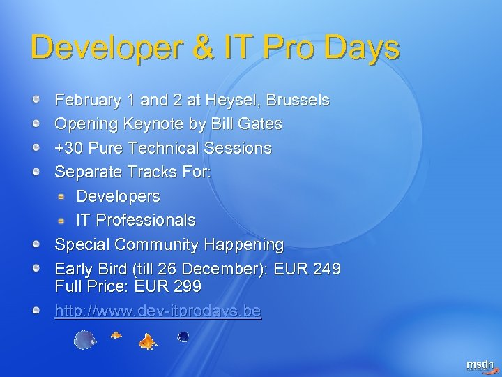 Developer & IT Pro Days February 1 and 2 at Heysel, Brussels Opening Keynote