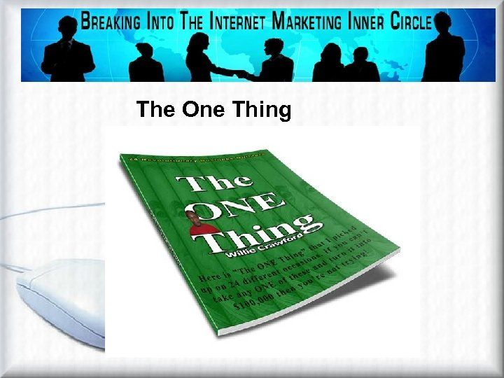 Affiliate Marketing Methods Viral Ebook The One Thing