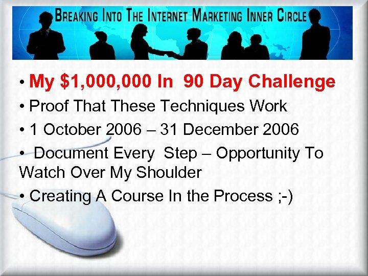 Niche Marketing Works • My $1, 000 In 90 Day Challenge • Proof That