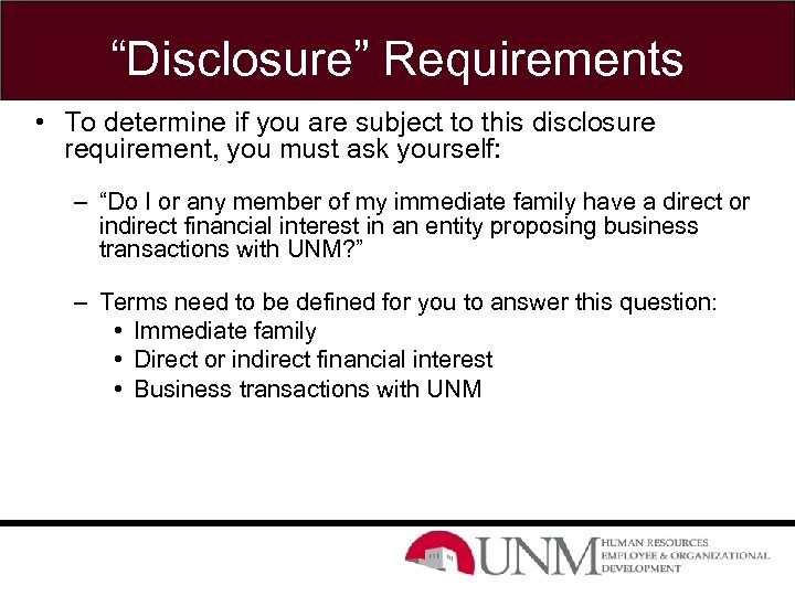 """""""Disclosure"""" Requirements • To determine if you are subject to this disclosure requirement, you"""