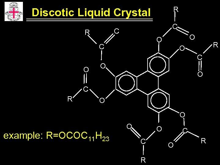 R Discotic Liquid Crystal C C R O O C R O C O