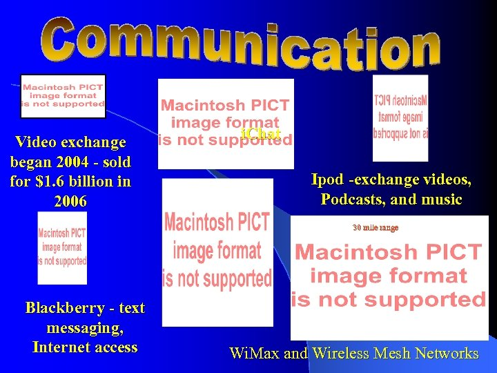 Video exchange began 2004 - sold for $1. 6 billion in 2006 i. Chat