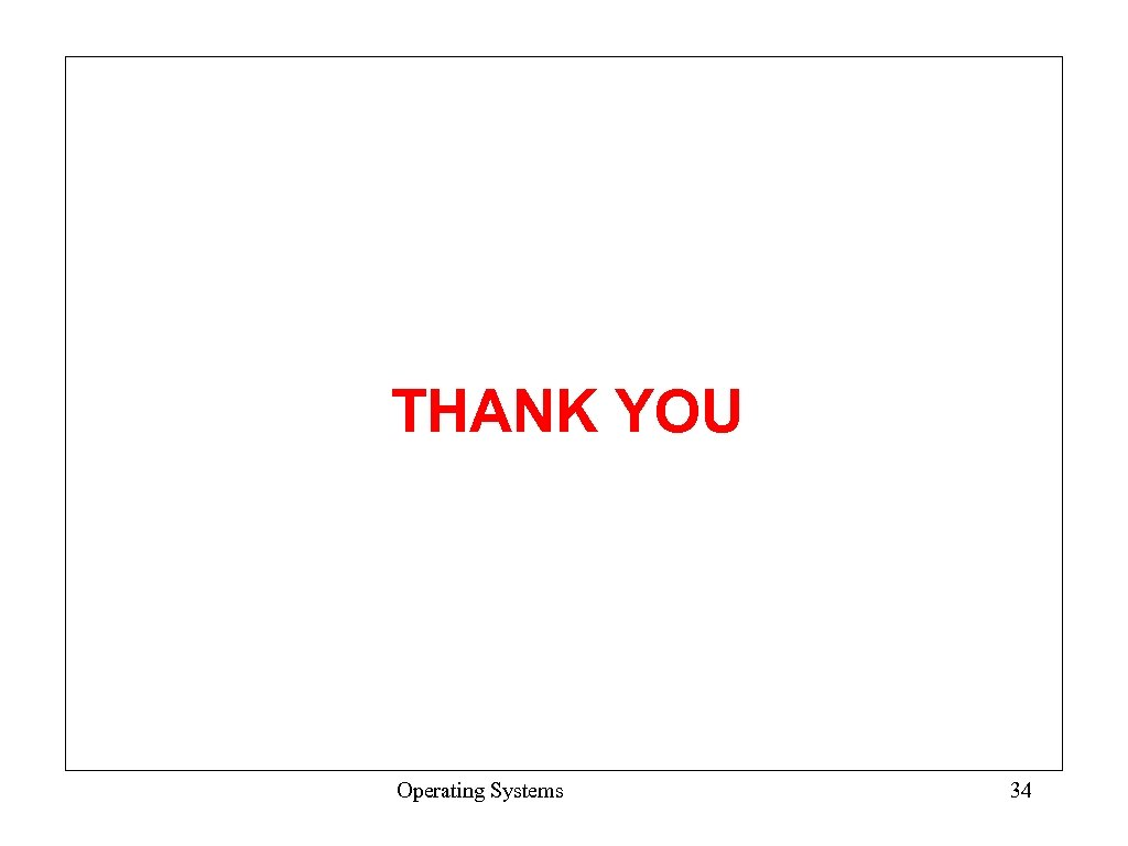THANK YOU Operating Systems 34