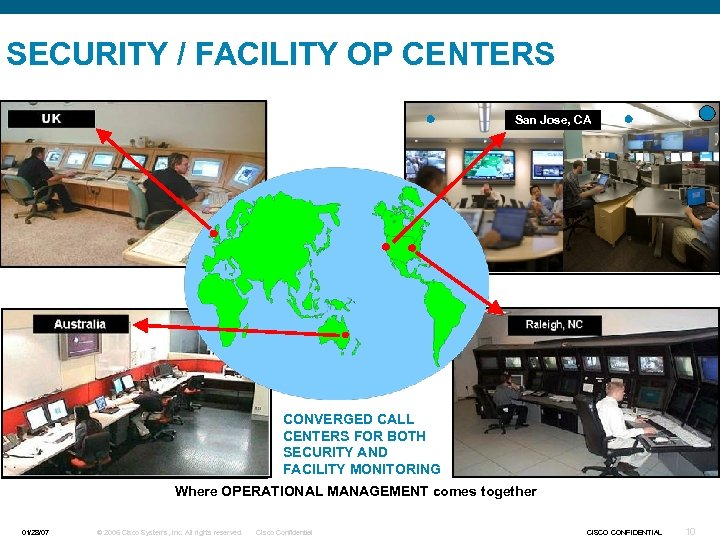 SECURITY / FACILITY OP CENTERS San Jose, CA CONVERGED CALL CENTERS FOR BOTH SECURITY