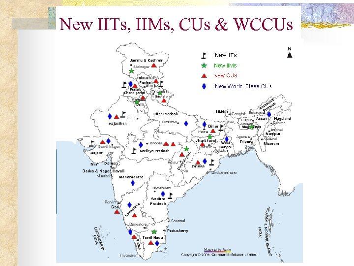 New IITs, IIMs, CUs & WCCUs