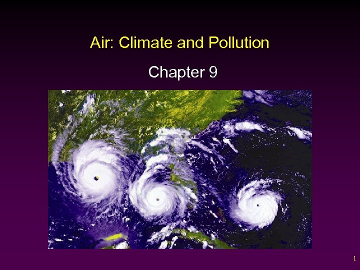 Air: Climate and Pollution Chapter 9 1
