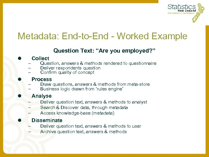 "Metadata: End-to-End - Worked Example Question Text: ""Are you employed? "" l l –"