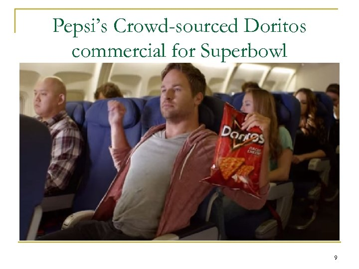 Pepsi's Crowd-sourced Doritos commercial for Superbowl 9