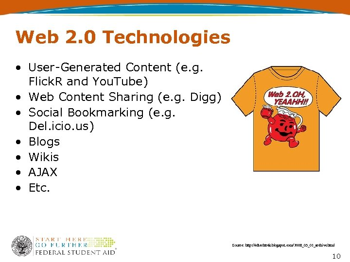 Web 2. 0 Technologies • User-Generated Content (e. g. Flick. R and You. Tube)