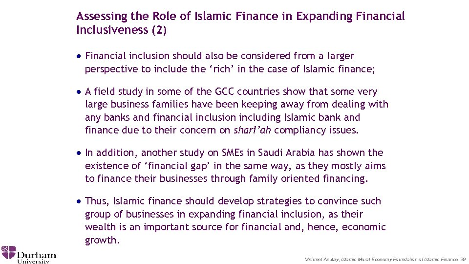 Assessing the Role of Islamic Finance in Expanding Financial Inclusiveness (2) · Financial inclusion