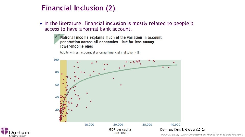 Financial Inclusion (2) · In the literature, financial inclusion is mostly related to people's