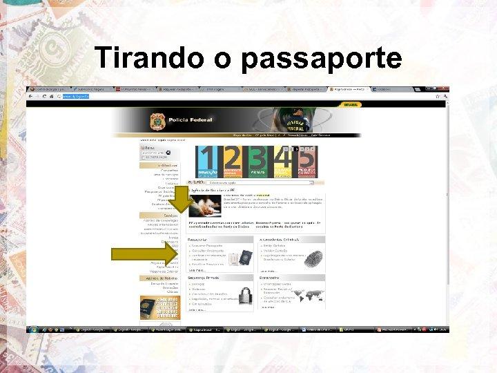 Tirando o passaporte