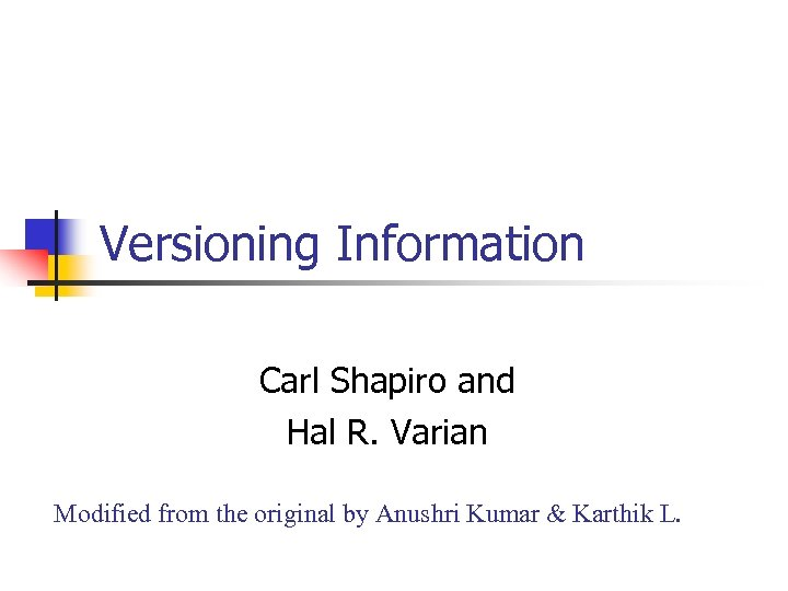 a literary analysis of the literature by carl shapiro and hal r varian By hal r varian, joseph farrell, carl shapiro isbn 9780511754166 (978--511-75416-6) cambridge university press, 2010 more editions of the economics of information technology: an introduction (raffaele mattioli lectures.