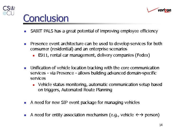 Conclusion n SABIT PALS has a great potential of improving employee efficiency Presence event