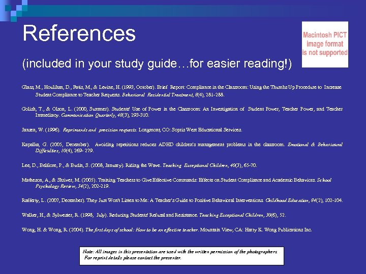 References (included in your study guide…for easier reading!) Glass, M. , Houlihan, D. ,