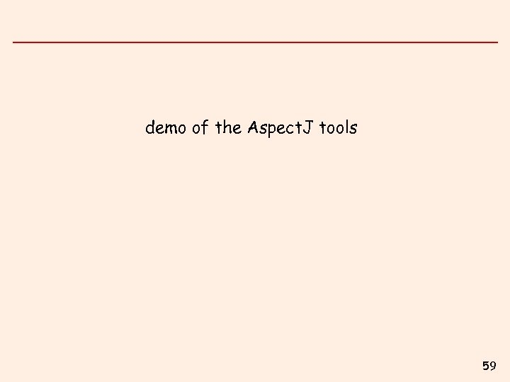 demo of the Aspect. J tools 59